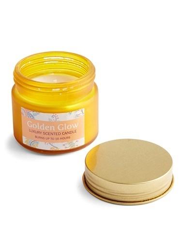 LWP Shop Golden Glow Limon ve Leylak Kokulu Mini Mum Altın